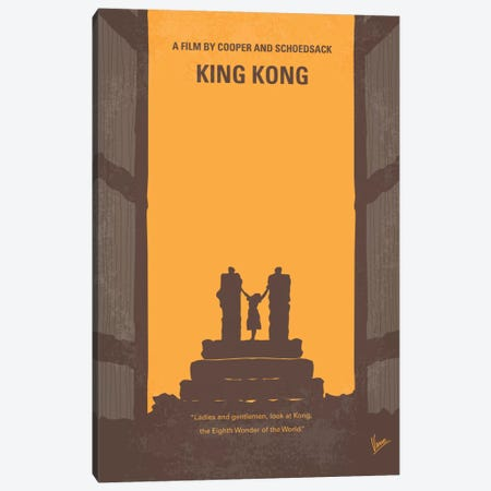 King Kong Minimal Movie Poster Canvas Print #CKG145} by Chungkong Canvas Art Print