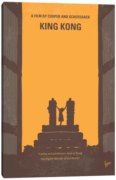 King Kong Minimal Movie Poster Canvas Art Print