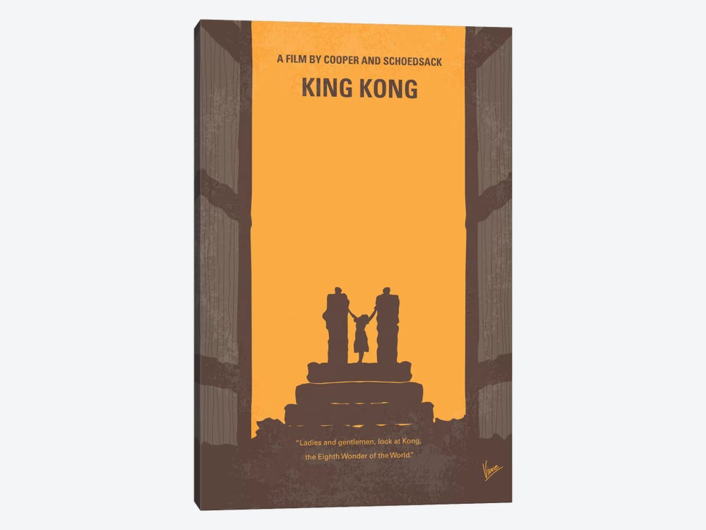 King Kong Minimal Movie Poster by Chungkong 1-piece Canvas Print