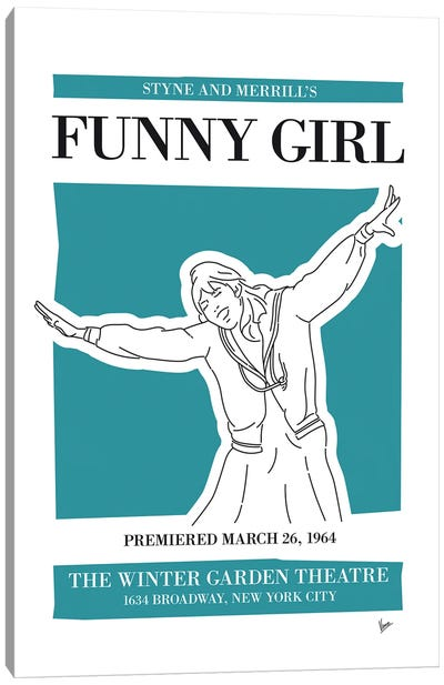 My Funny Girl Musical Poster Canvas Art Print