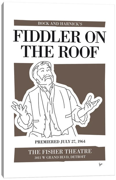 My Fiddler On The Roof Musical Poster Canvas Art Print