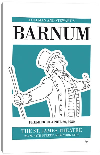 My Barnum Musical Poster Canvas Art Print