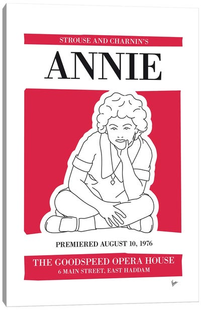 My Annie Musical Poster Canvas Art Print