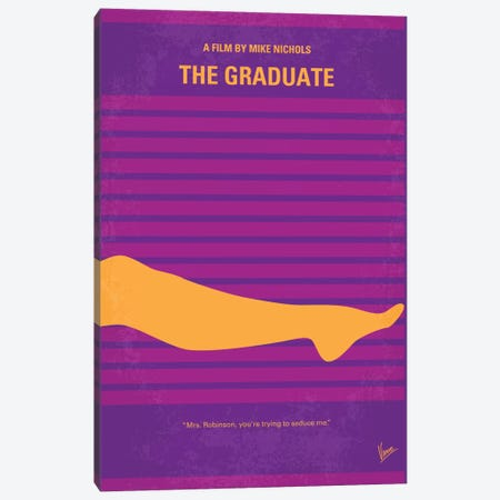 The Graduate Minimal Movie Poster Canvas Print #CKG147} by Chungkong Canvas Print