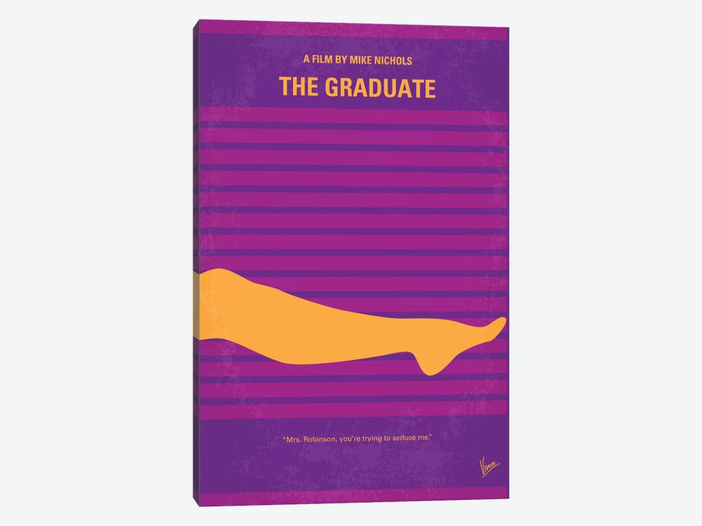 The Graduate Minimal Movie Poster by Chungkong 1-piece Canvas Art Print
