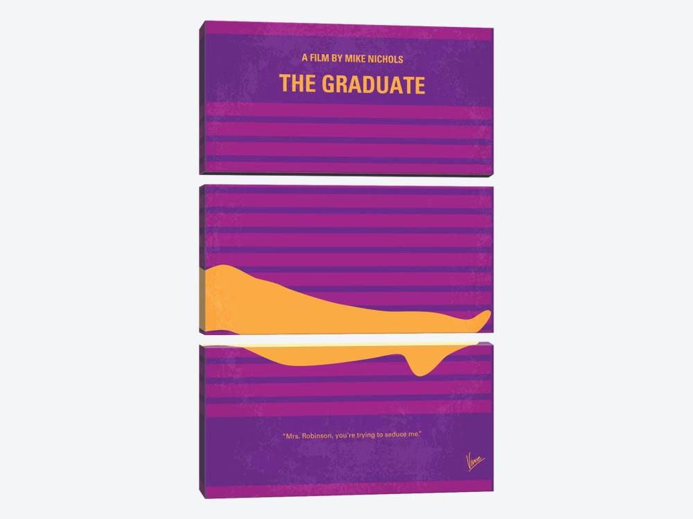 The Graduate Minimal Movie Poster by Chungkong 3-piece Art Print