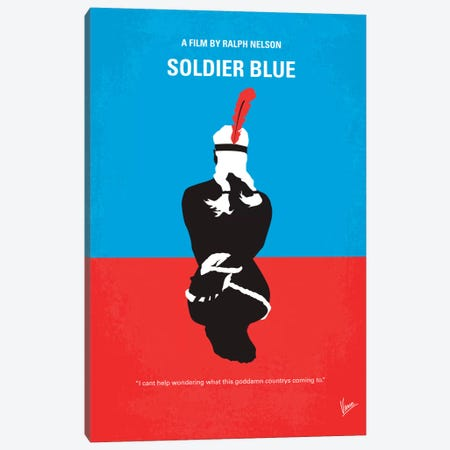 Soldier Blue Minimal Movie Poster Canvas Print #CKG148} by Chungkong Canvas Art