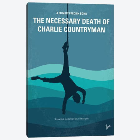 My The Necessary Death Of Charlie Countryman Minimal Movie Poster Canvas Print #CKG1495} by Chungkong Canvas Artwork