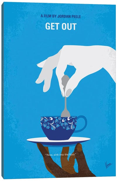My Get Out Minimal Movie Poster Canvas Art Print