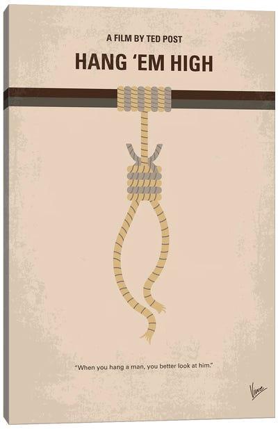 My Hang Em High Minimal Movie Poster Canvas Art Print