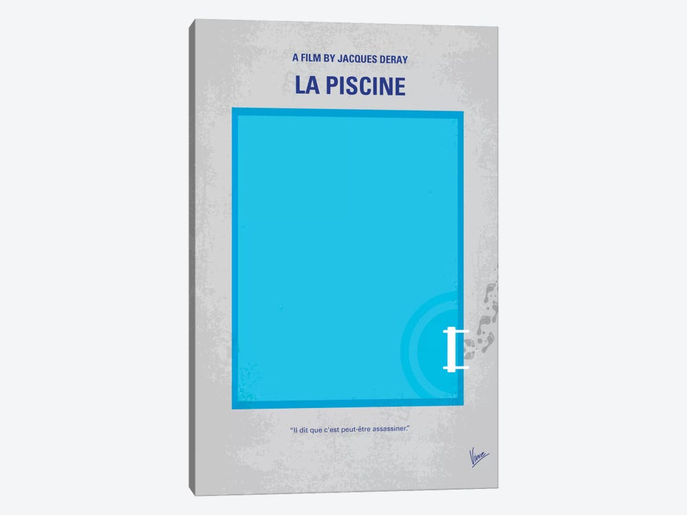 La Piscine Minimal Movie Poster by Chungkong 1-piece Art Print