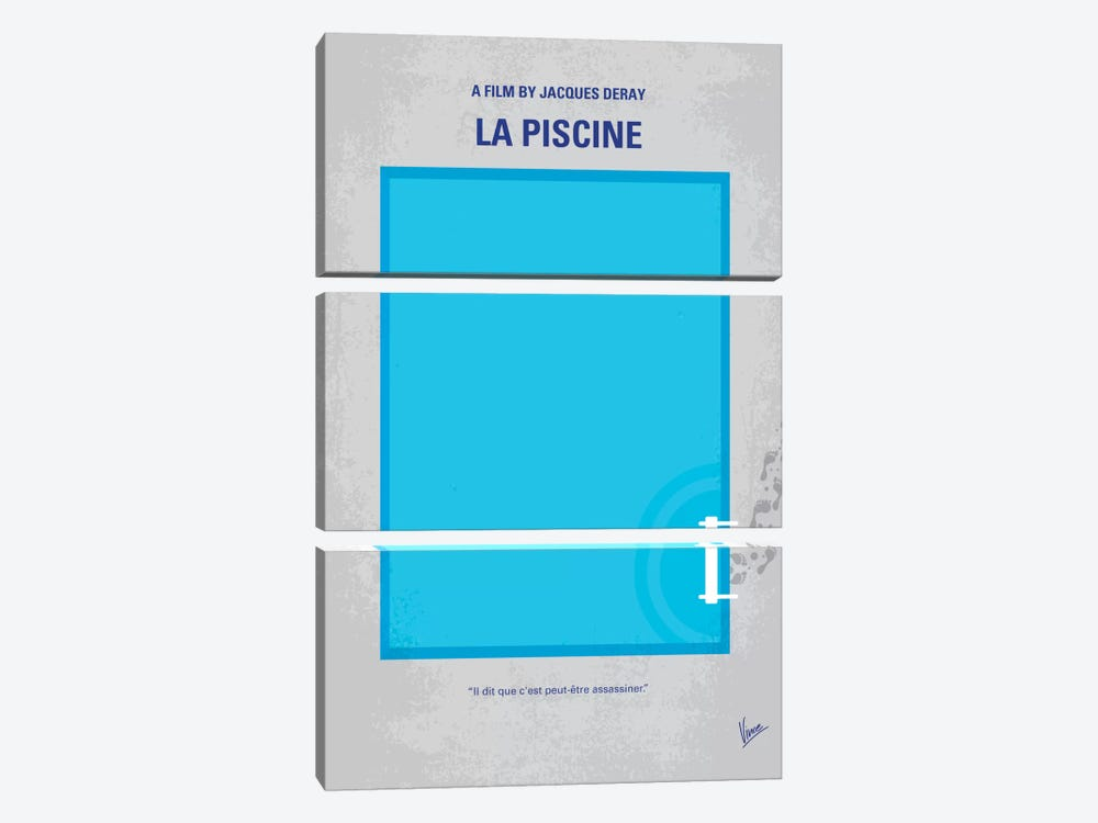La Piscine Minimal Movie Poster by Chungkong 3-piece Canvas Art Print