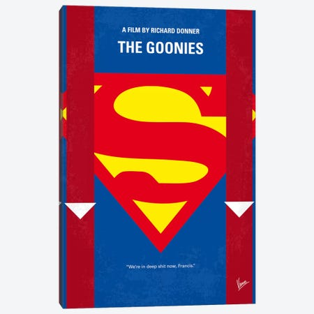 The Goonies Minimal Movie Poster Canvas Print #CKG14} by Chungkong Canvas Art Print