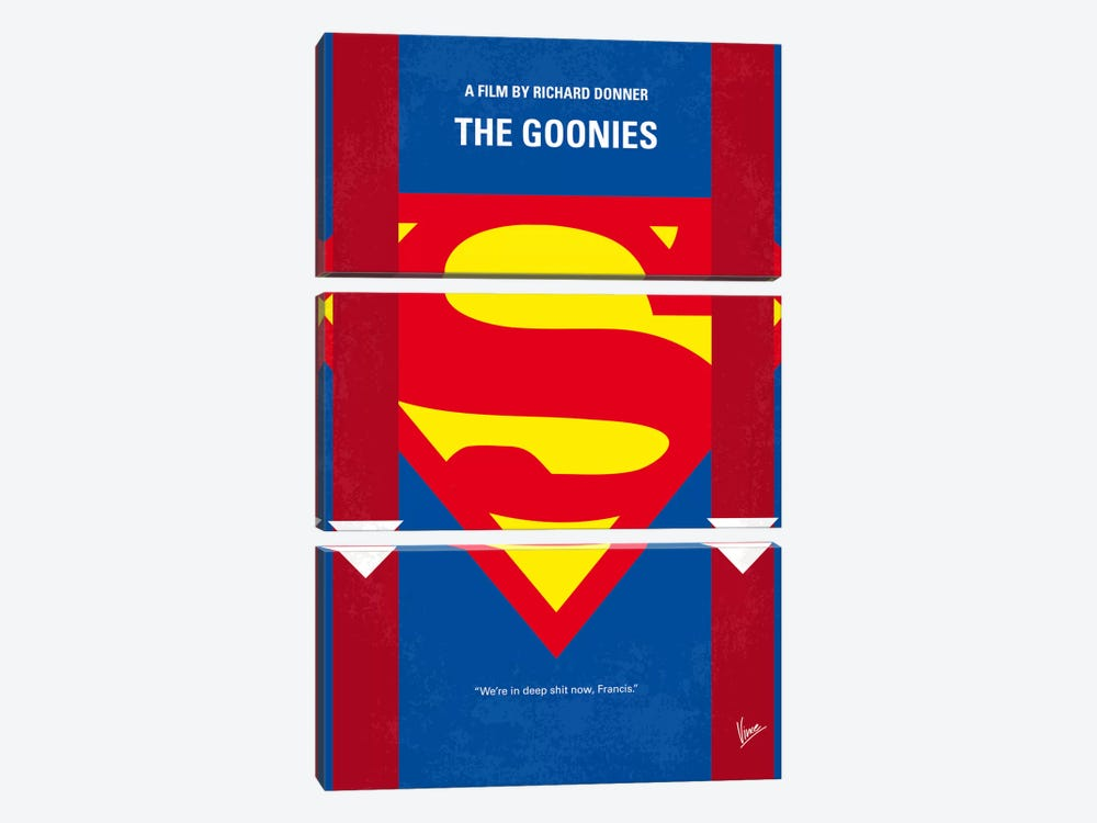 The Goonies Minimal Movie Poster by Chungkong 3-piece Canvas Wall Art