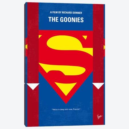 The Goonies Minimal Movie Poster Canvas Print #CKG14} by Chungkong Canvas Art Print