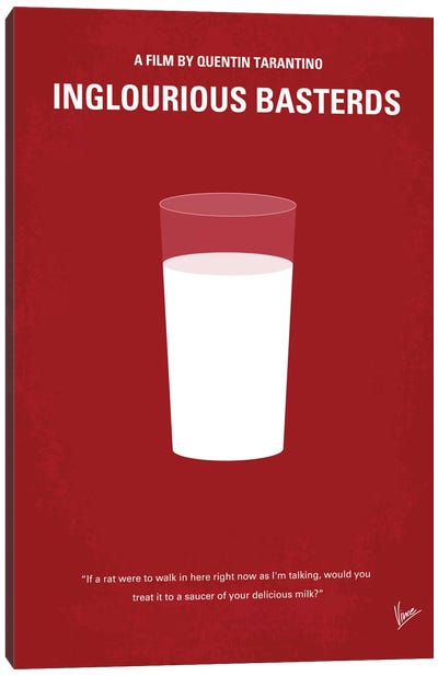 Inglourious Basterds Minimal Movie Poster Canvas Art Print