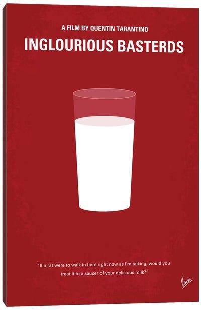 Inglourious Basterds Minimal Movie Poster Canvas Art Print
