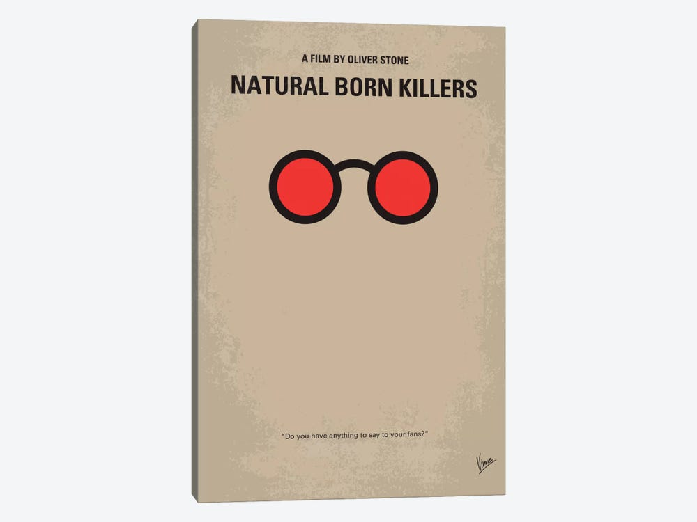 Natural Born Killers Minimal Movie Poster by Chungkong 1-piece Canvas Wall Art