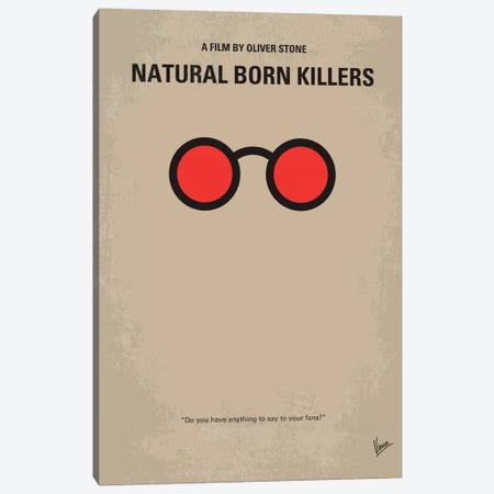 Natural Born Killers Minimal Movie Poster Canvas Print #CKG151} by Chungkong Canvas Art Print