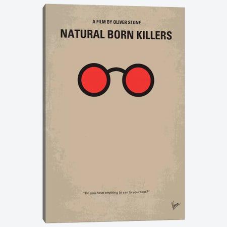 Natural Born Killers Minimal Movie Poster Canvas Print #CKG151} by Chungkong Canvas Art Print