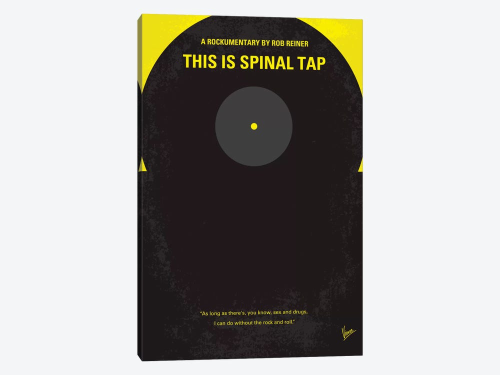 This Is Spinal Tap Minimal Movie Poster by Chungkong 1-piece Canvas Artwork