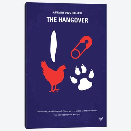 The Hangover Minimal Movie Poster Canvas Print #CKG157} by Chungkong Canvas Wall Art