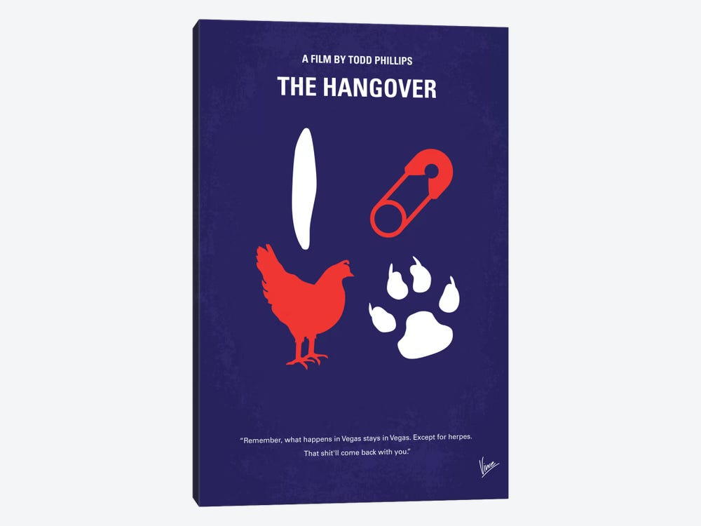 The Hangover Minimal Movie Poster by Chungkong 1-piece Canvas Wall Art