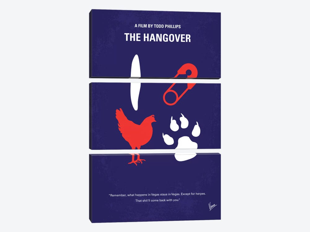 The Hangover Minimal Movie Poster by Chungkong 3-piece Canvas Artwork