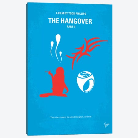 The Hangover Part II Minimal Movie Poster Canvas Print #CKG158} by Chungkong Canvas Print