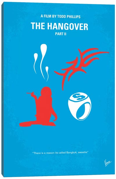 The Hangover Part II Minimal Movie Poster Canvas Art Print