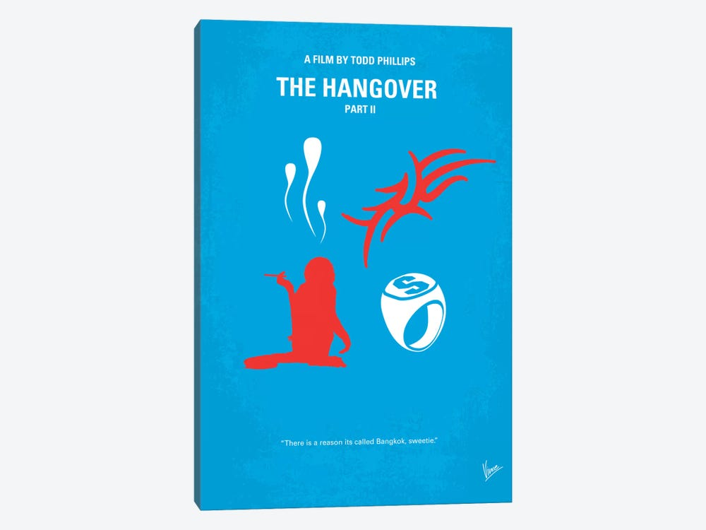 The Hangover Part II Minimal Movie Poster by Chungkong 1-piece Canvas Art Print