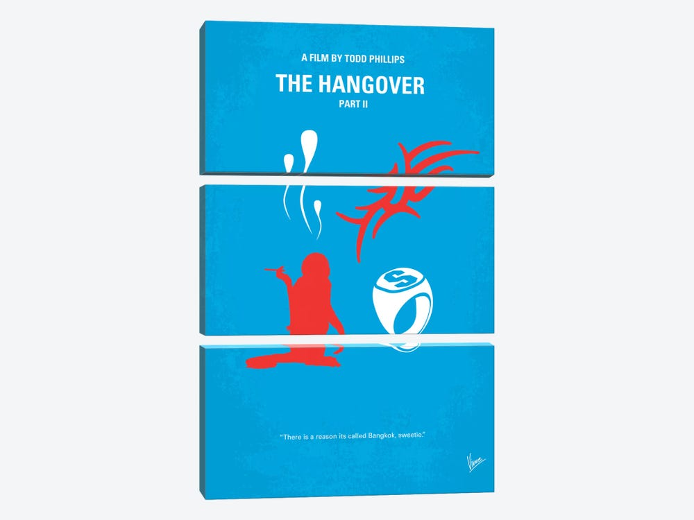 The Hangover Part II Minimal Movie Poster by Chungkong 3-piece Canvas Print