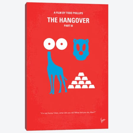 The Hangover Part III Minimal Movie Poster Canvas Print #CKG159} by Chungkong Canvas Print