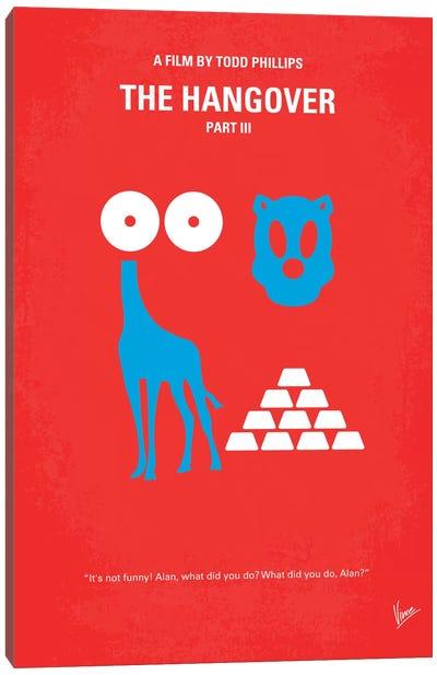 The Hangover Part III Minimal Movie Poster Canvas Art Print