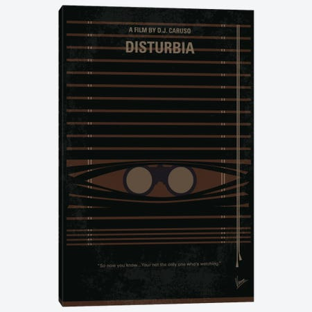 Disturbia Minimal Movie Poster Canvas Print #CKG15} by Chungkong Art Print