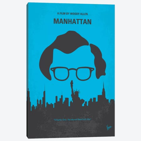 Manhattan Minimal Movie Poster Canvas Print #CKG160} by Chungkong Canvas Art