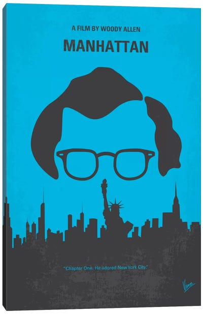 Manhattan Minimal Movie Poster Canvas Art Print