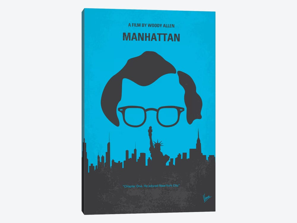 Manhattan Minimal Movie Poster by Chungkong 1-piece Canvas Wall Art