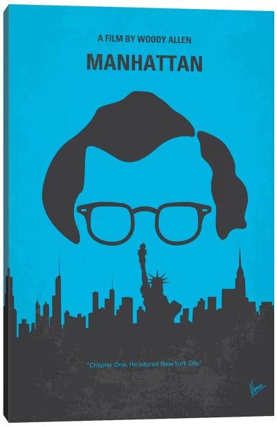 Manhattan Minimal Movie Poster Canvas Art Print