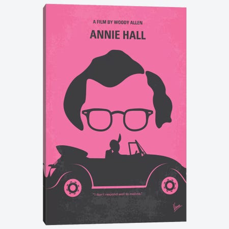 Annie Hall Minimal Movie Poster Canvas Print #CKG161} by Chungkong Canvas Wall Art