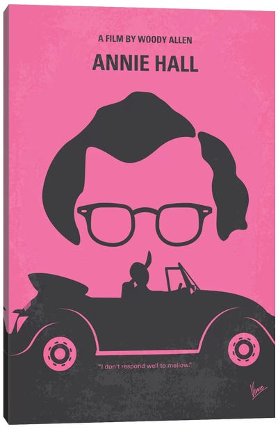 Annie Hall Minimal Movie Poster Canvas Print #CKG161