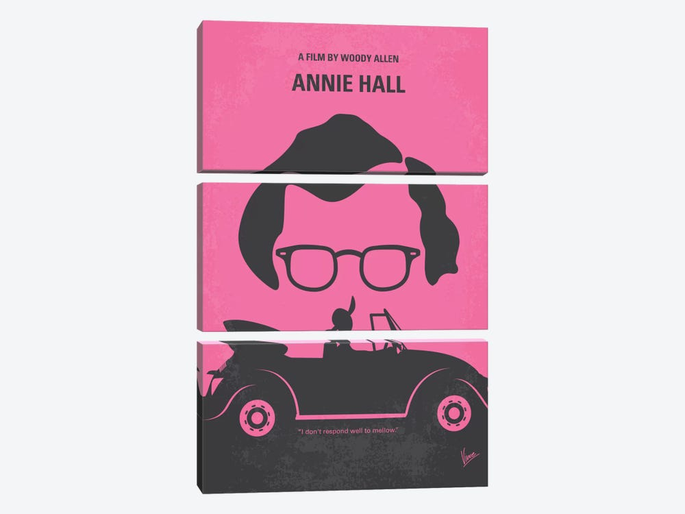 Annie Hall Minimal Movie Poster by Chungkong 3-piece Canvas Art Print