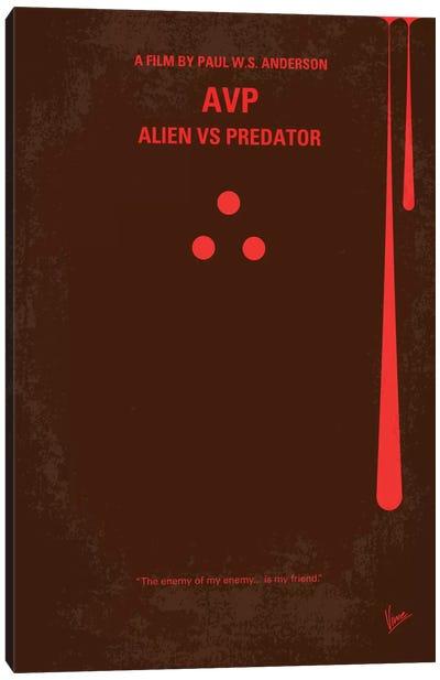 AVP: Alien vs. Predator Minimal Movie Poster Canvas Print #CKG162