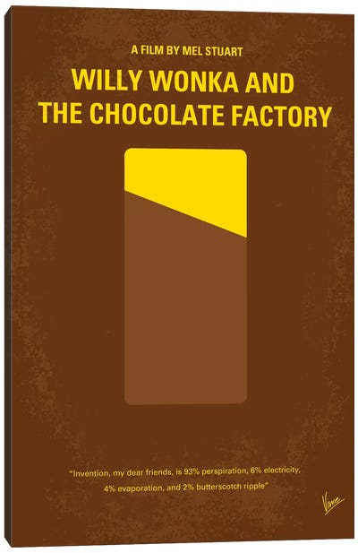 Willy Wonka And The Chocolate Factory Minimal Movie Poster Canvas Print #CKG163