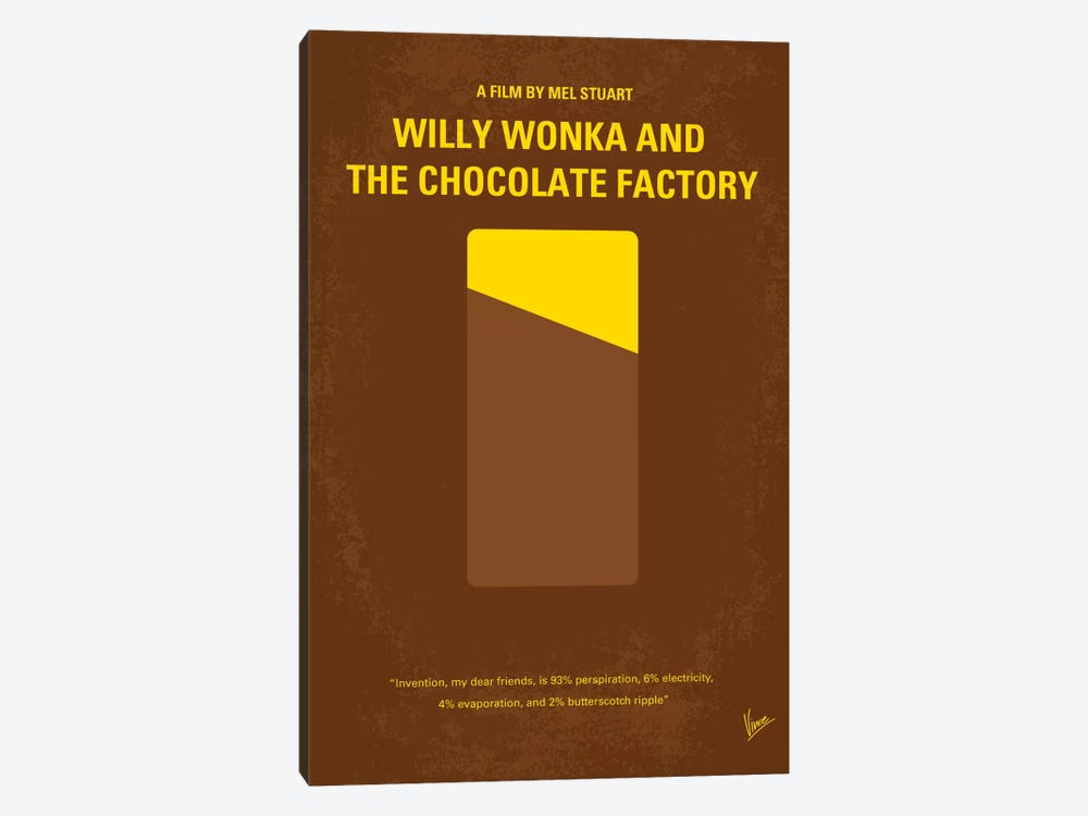 Willy Wonka And The Chocolate Factory Minimal Movie Poster by Chungkong 1-piece Art Print