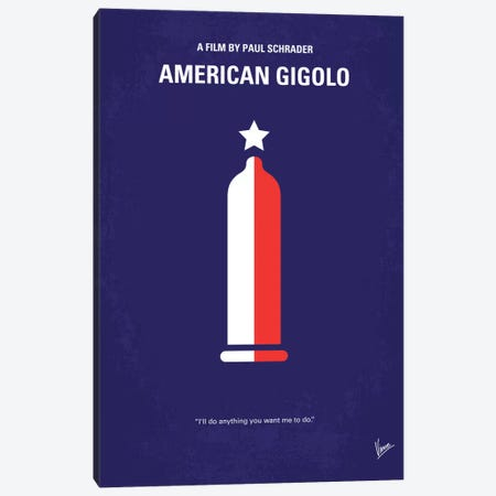 American Gigolo Minimal Movie Poster Canvas Print #CKG164} by Chungkong Canvas Art Print