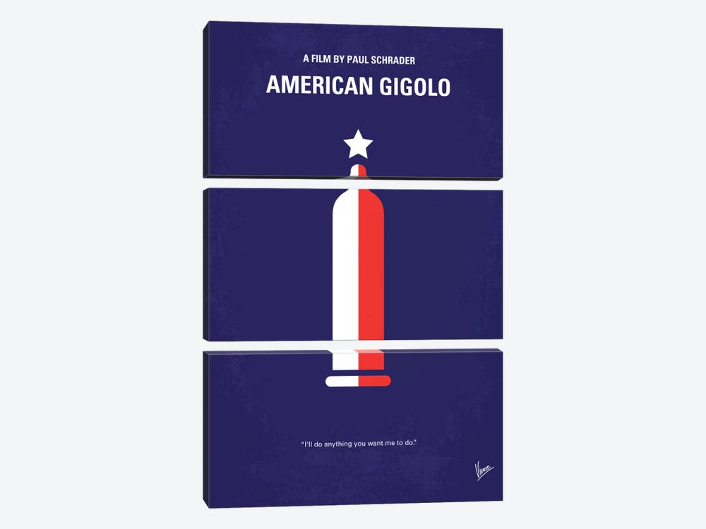 American Gigolo Minimal Movie Poster by Chungkong 3-piece Canvas Artwork