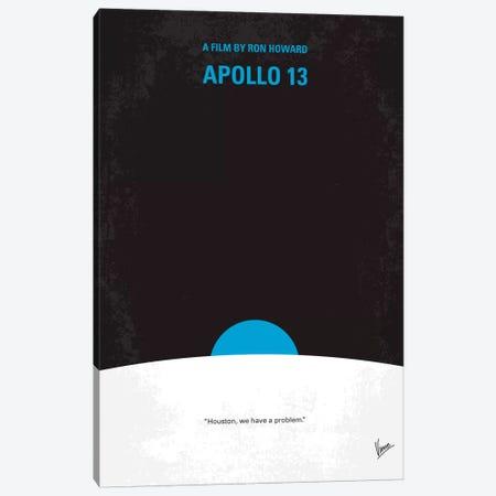 Apollo 13 Minimal Movie Poster Canvas Print #CKG165} by Chungkong Art Print