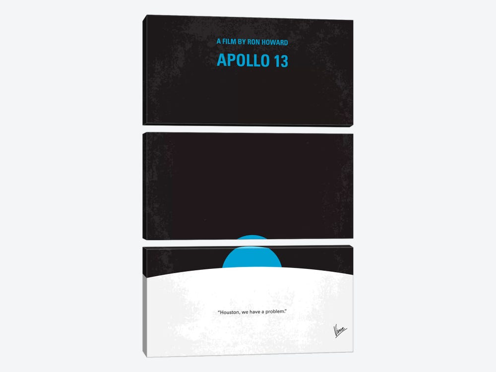 Apollo 13 Minimal Movie Poster by Chungkong 3-piece Art Print