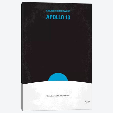 Apollo 13 Minimal Movie Poster Canvas Print #CKG165} by Chungkong Art Print